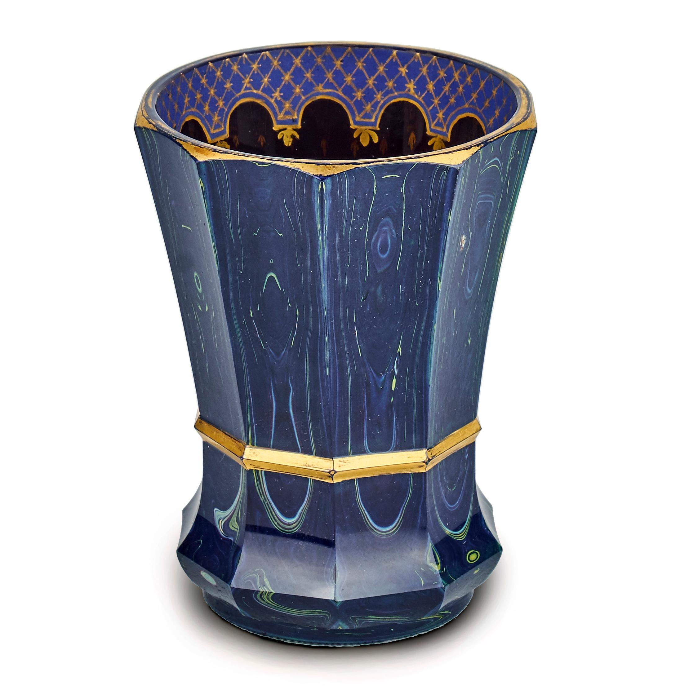 Friedrich EGERMANN Lithyalinglas blau